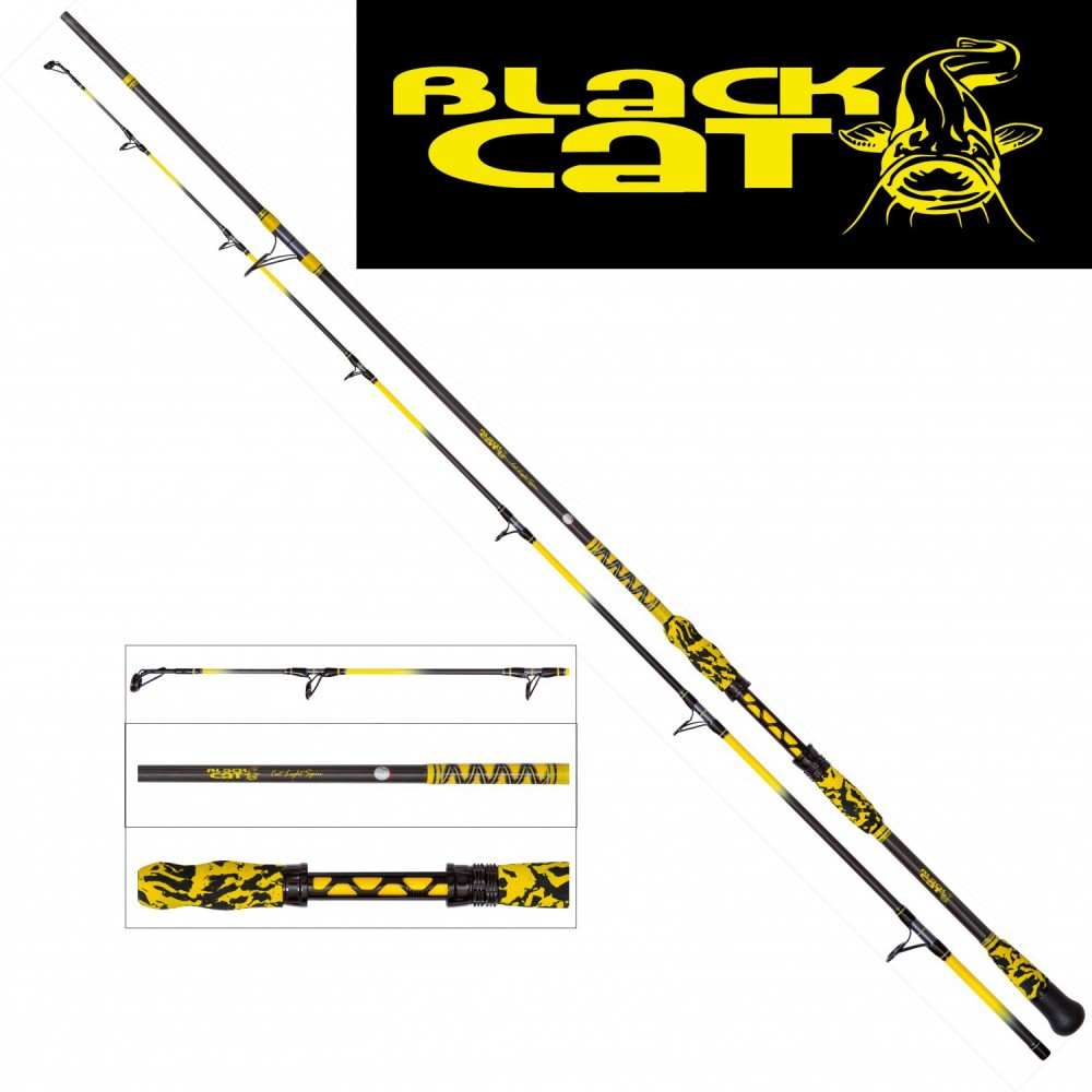 Сомска въдица 2,80M CAT LIGHT SPIN 10G 150G - Black Cat