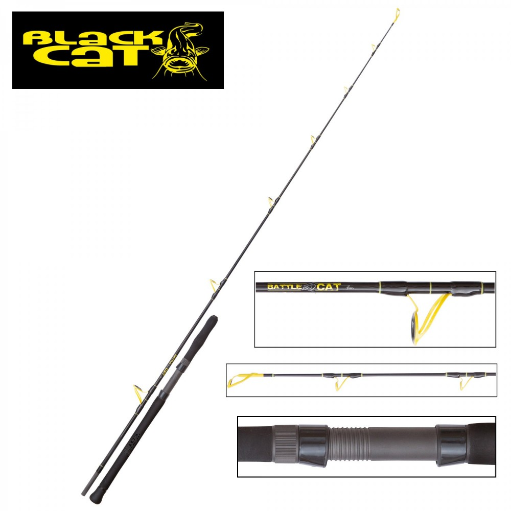 Сомска въдица 2,20M BLACK CAT BATTLE CAT FUN 200G
