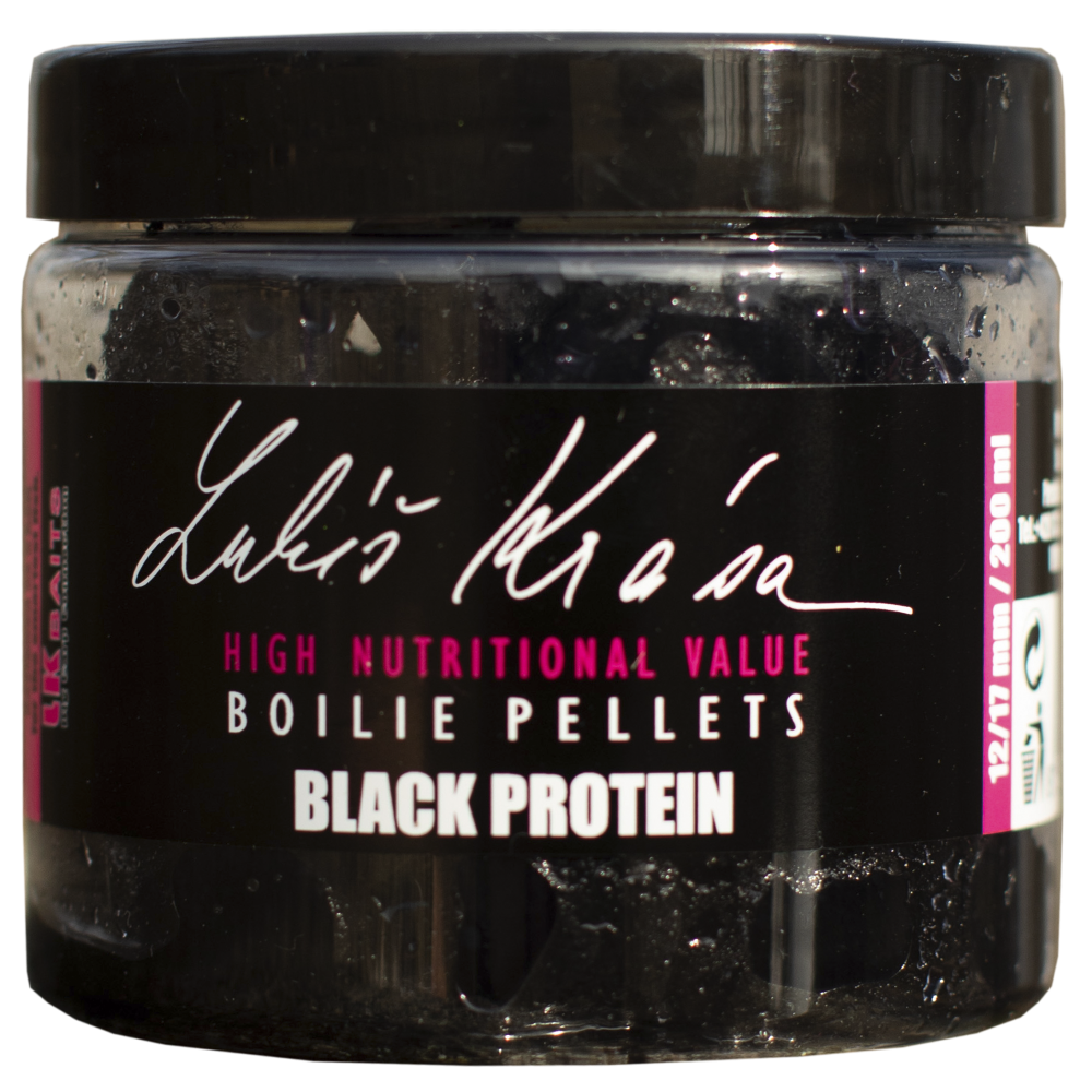 Пелети за стръв - Lukas Krasa Boilies Pellet Black Protein 12/17mm 200ml